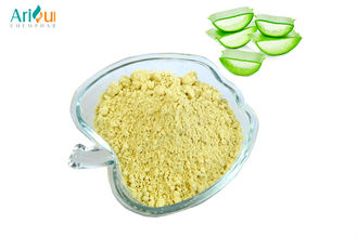 Light Yellow Or Orange Aloe Extract Powder Bebidas , Aloe Vera Inner Leaf Powder
