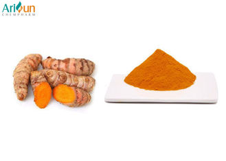 China Yellow Natural Food Coloring Powder 10% Curcumin Excellent Water Solubility supplier